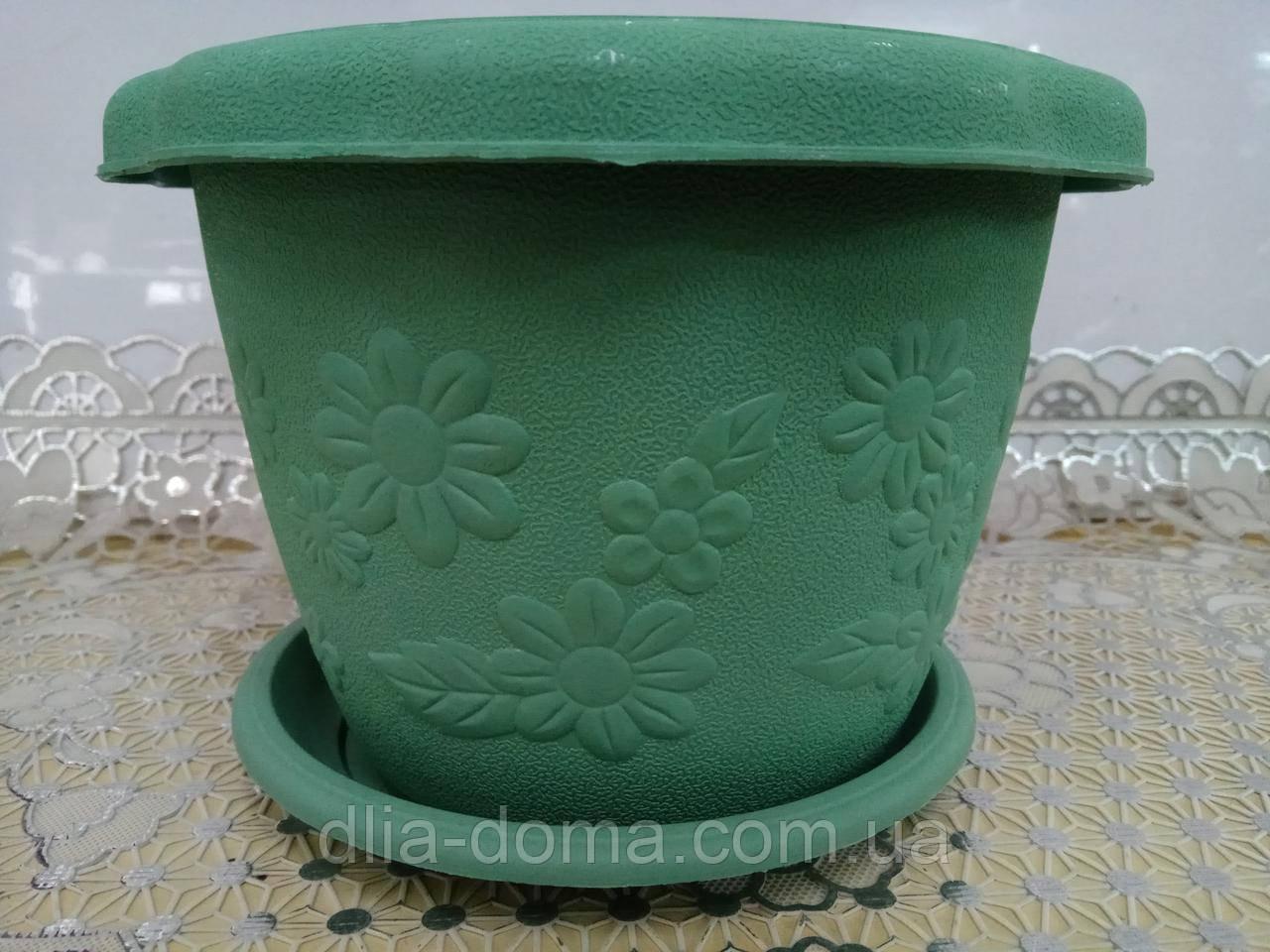 Горшок для цветов пластиковый, диаметр 26 см, 3904