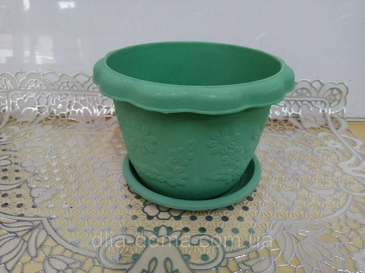 Горшок для цветов пластиковый, диаметр 19 см, 3902