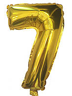 Фольгированный шар цифра 7 золото, 80 см