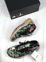 Мужские кроссовки Bape x Adidas Dame 4 camo green