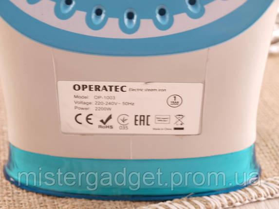Паровой утюг Operatec OP-1003 с керамической подошвой 2200Вт, фото 2