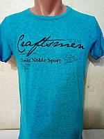 Мужская легкая футболка Silver Rain с надписью, Турция