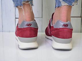 Кроссовки мужские New Balance 1400 бордовые - Топ качество ААА+, Реальные фото, Замша/текстиль, легкие, фото 3