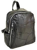 Черный кожаный женский рюкзак Alex Rai