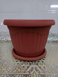 Цветочный горшок Волна, диаметр 25,5 см,5603