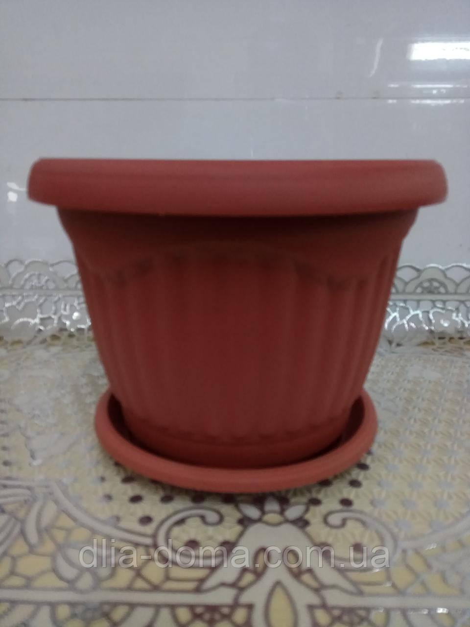 Горщик для квітів пластиковий Хвиля, діаметр 20,5 см, 5602