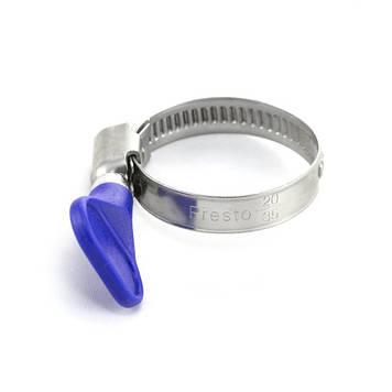 Хомут червячный Presto-PS для шланга 25-40 мм металлический с барашком, в упаковке - 100 шт. (25*40b)
