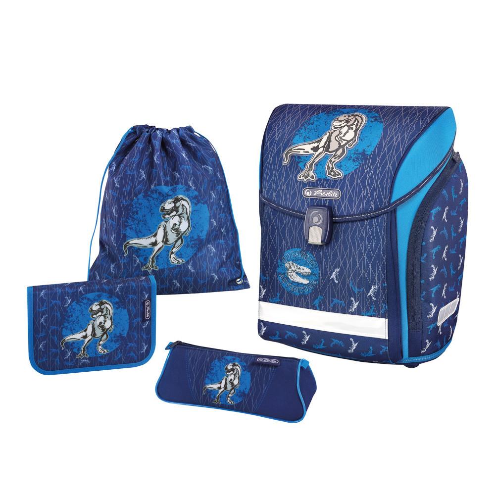 Ранец школьный укомплектованный Herlitz MIDI PLUS Dino Blue