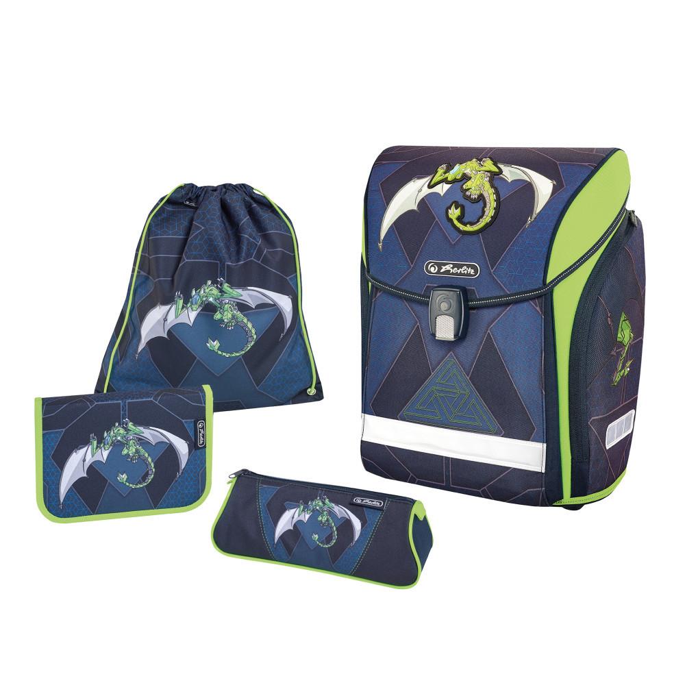 Ранец школьный укомплектованный Herlitz MIDI PLUS Robo Dragon Green