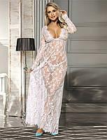 Белое платье в пол для будуарной фотосессии и беременных, фото 1