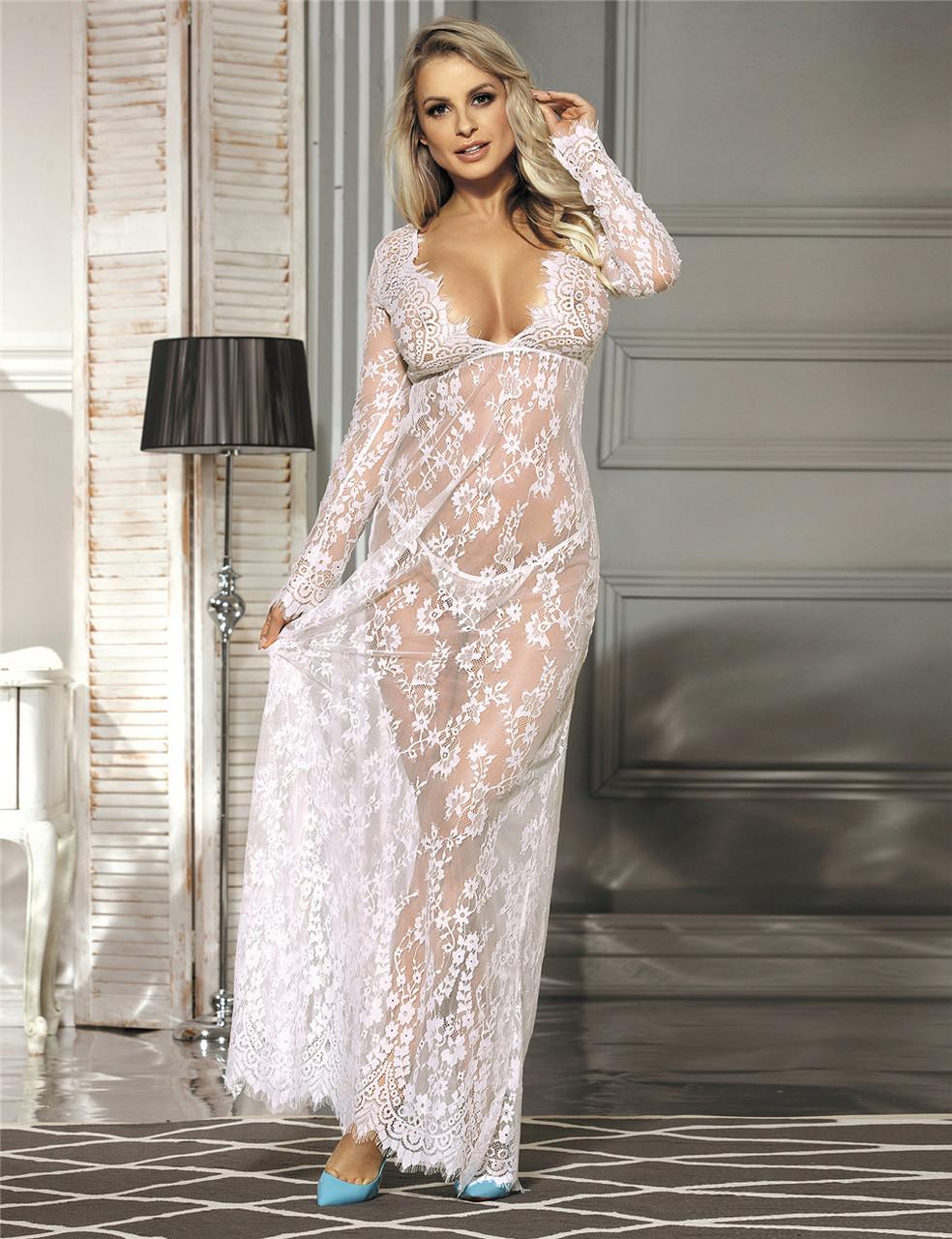 d42656f5317c9b0 Белое платье в пол для будуарной фотосессии и беременных - SweetLove -  Женское бельё и домашняя