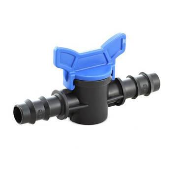 Кран кульовий прохідний Mavi для трубки 16 мм, в упаковці - 50 шт (9105)