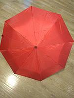 Красный складной зонт Krispils с серебром внутри