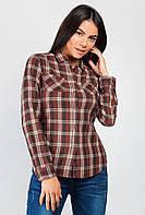 Рубашка стильная женская 603K004 (Коричнево-бежевый)