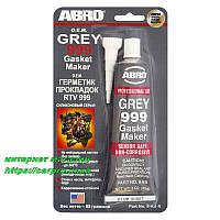Герметик высокотемпературный силиконовый серый ABRO 999 GREY O.E.M., фото 1