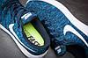 Сині чоловічі кросівки Nike Lunarepic Flyknit, фото 7