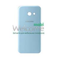 Задняя крышка Samsung A720F Galaxy A7 (2017) blue orig, сменная панель самсунг а7