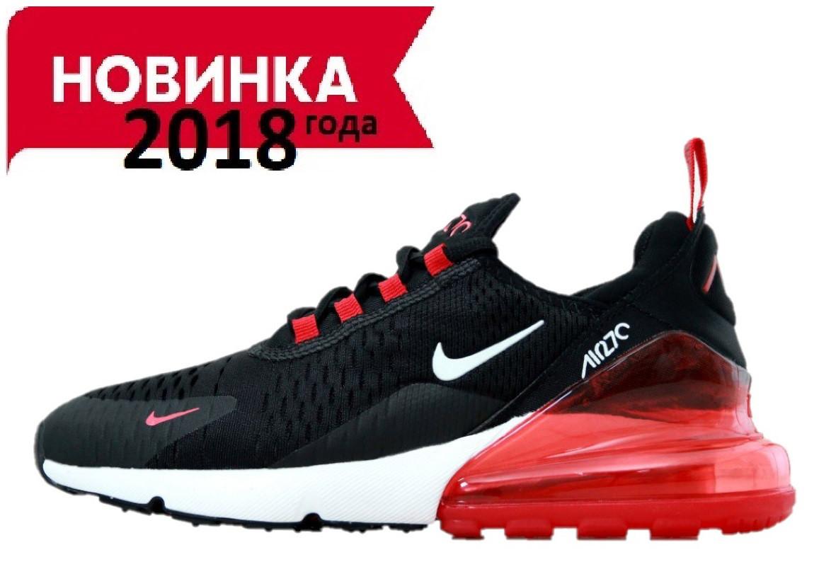 4cc2b8c67 Мужские кроссовки Nike Air Max 270 Black/ Red (найк аир макс 270, черные