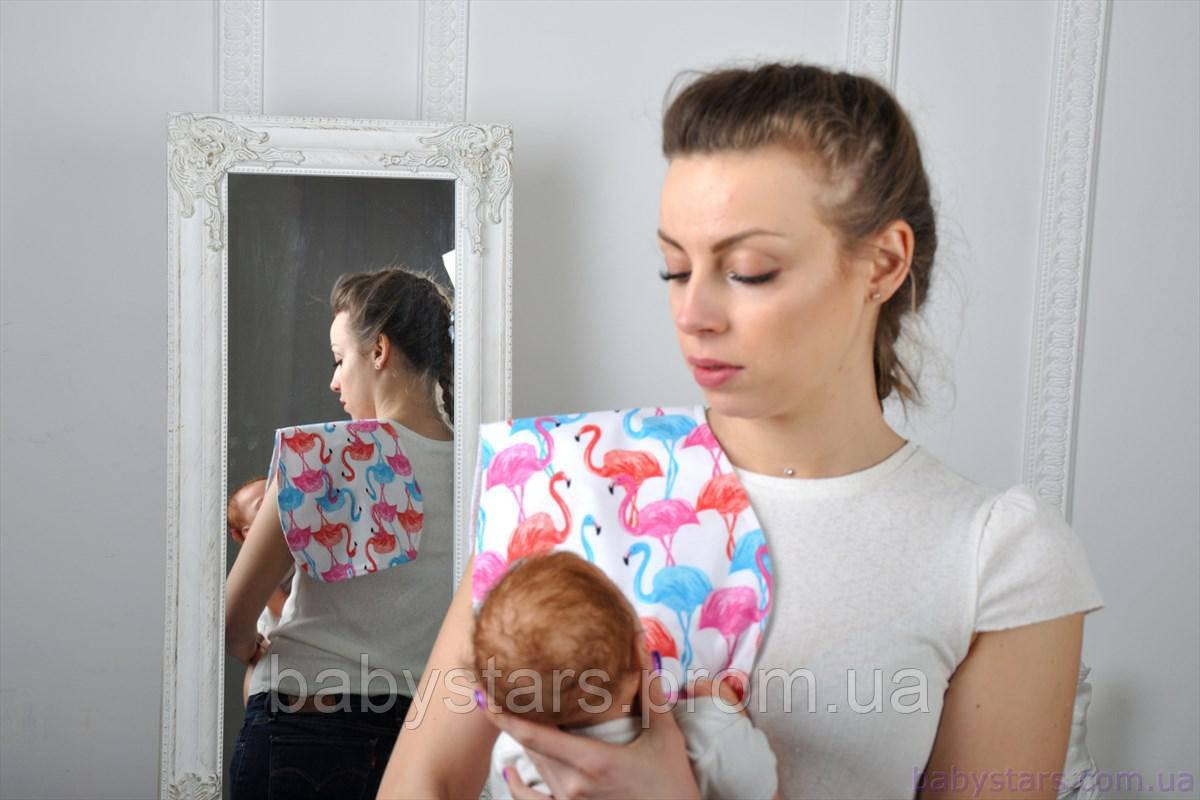 Полотенце для гигиены новорожденного, Цветные Фламинго