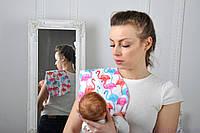 Полотенце для гигиены новорожденного, Цветные Фламинго, фото 1