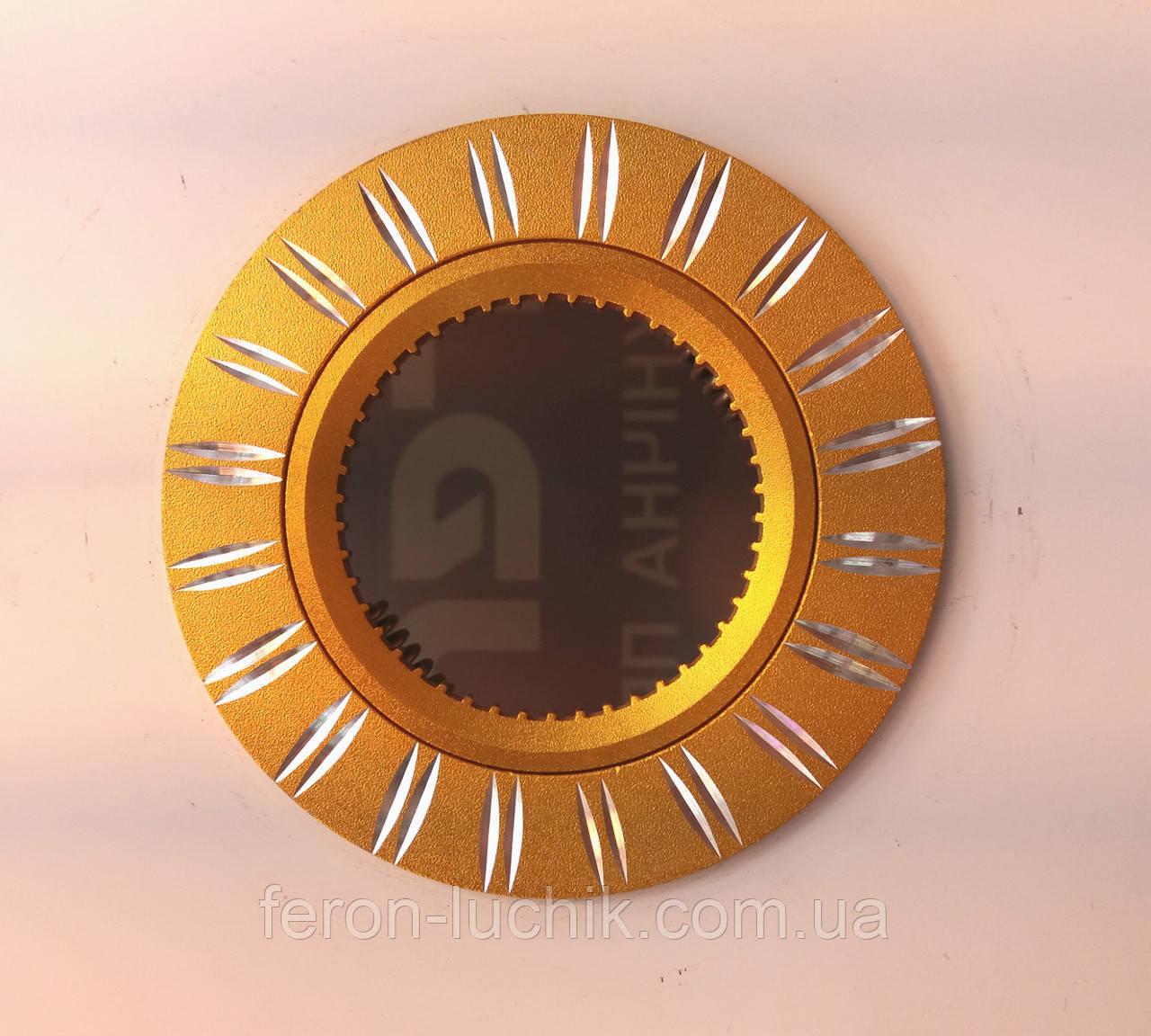 Светильник точечный встраиваемый Feron GS-M393 GU5.3 МR-16 потолочный золото