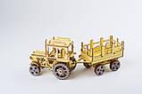 3D модель деревянная Трактор, фото 2