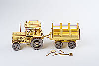 3D модель деревянная Трактор, фото 1