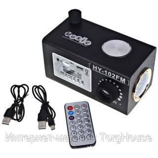 Портативная колонка 102 FM, MP3, USB