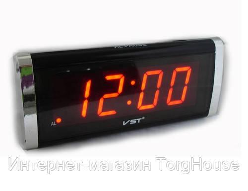 Часы сетевые 731-1 (красные)