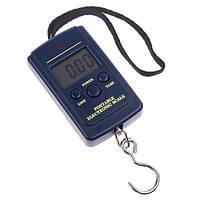 Кантер электронный 20г-40 кг 607, ручные хозяйственные весы, функции: тара, фиксация веса, термометр, 2*ААА