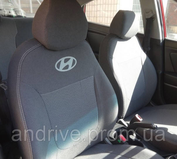 Авточехлы Hyundai  Accent (раздельный диван) с 2010 г