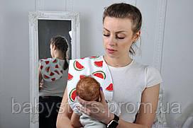 Полотенце для гигиены новорожденного, Арбузики