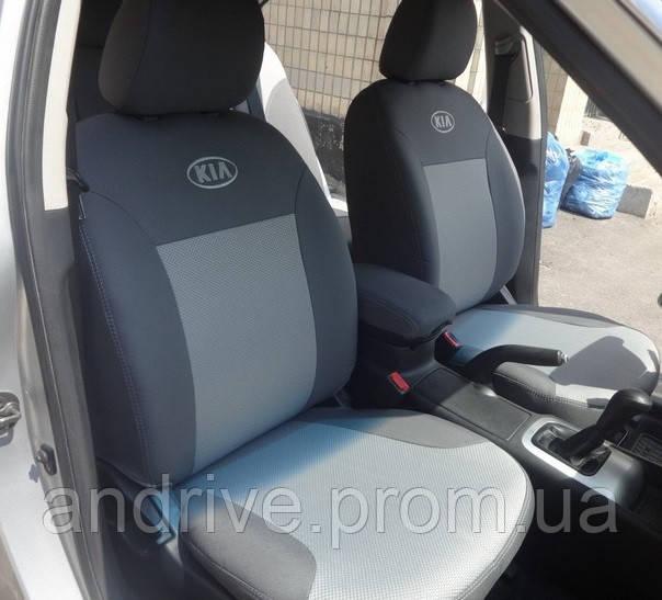 Авточехлы Kia Rio III Sedan (раздельный диван) с 2011 г