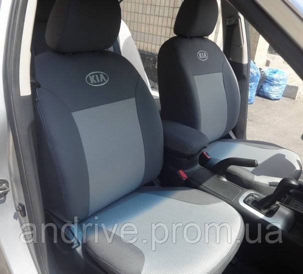 Авточехлы Kia Rio III Sedan (раздельный диван) с 2015 г