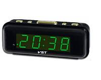 Часы сетевые 738-4 (салатовые)