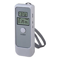 Карманный цифровой алкотестер с LCD и часами Luxury 6389
