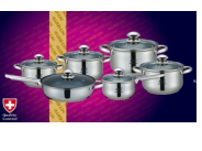 Набор кастрюль Frico GL-3208, 12 предметов 2.1, 2.1, 2.9, 3.9, 6.5, 3.3 л. + сковорода