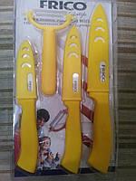 Набор ножей (керамика) FRICO FRU-902 + картофелечистка, 4 шт