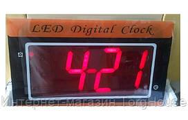 Часы сетевые 35 С настенные, красные