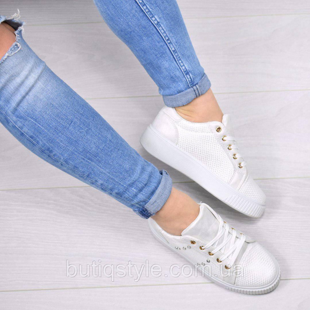 37, 39 размер! Женские стильные белые криперы экокожа Fancy