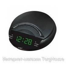 Часы сетевые 903-4, радио FM (салатовые)
