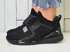 Кроссовки мужские Puma Ignite - Топ качество ААА+, Реальные фото, сетка, легкие, модные - черные, фото 3