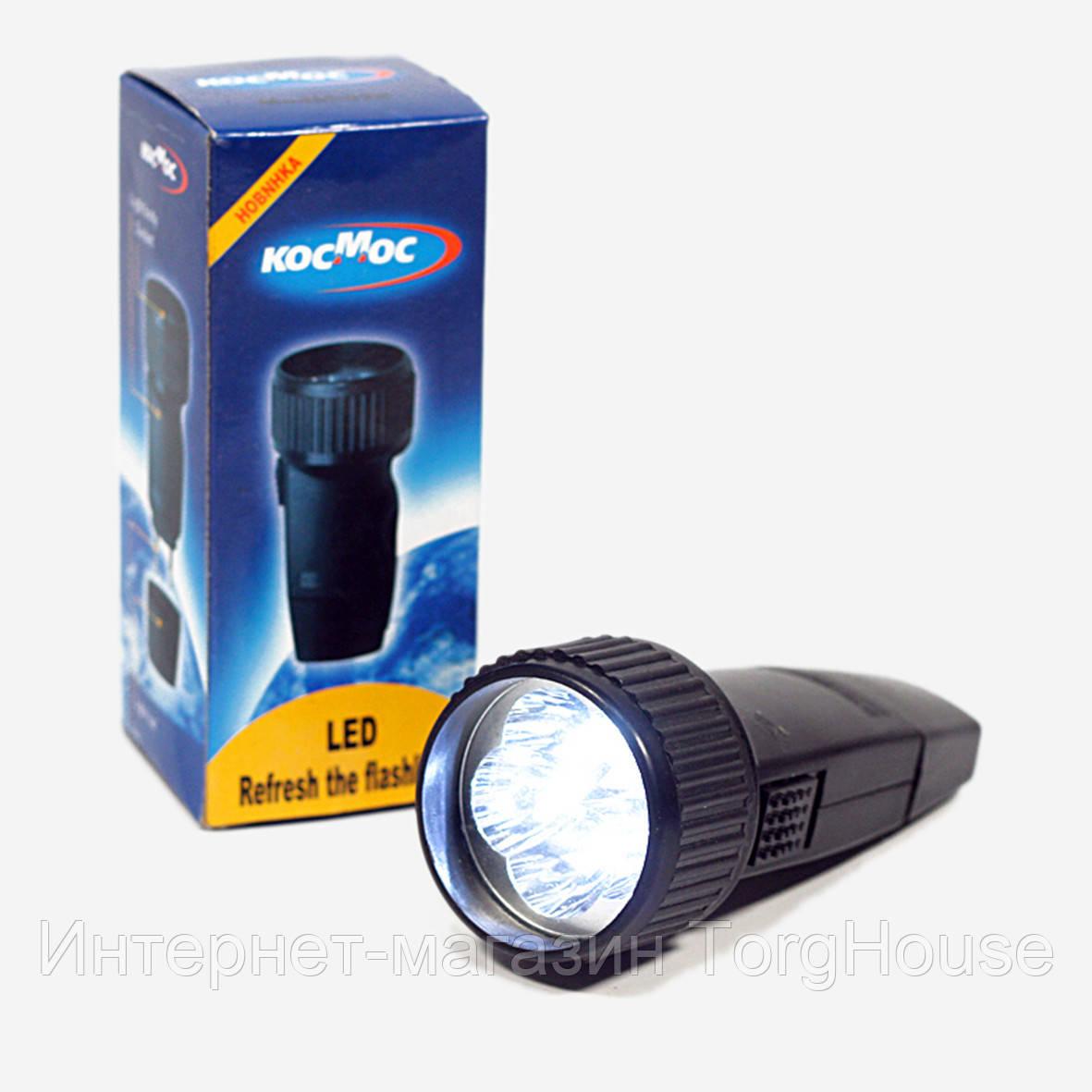 Фонарик КОСМОС (LED) аккумулятор 3.7v 18650