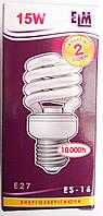 Лампочка энергосберегающая ELM E27 15W (75W)