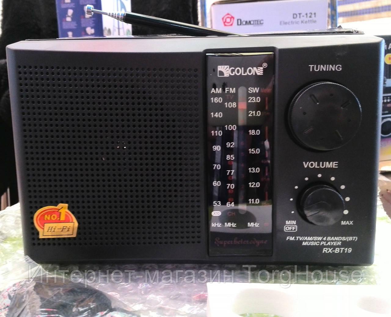 Радиоприемник GOLON RX-BT17 (MP3, FM, USB, SDcard)