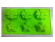 Формы и противень для выпечки (силикон) FRICO FRU-855, 6 ячеек для кексов 29x17x3.5 см.