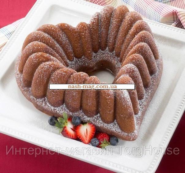 Форма для выпечки (силикон) сердечко FRICO FRU-863, 29x27x9 см.