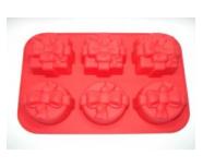Формы и противень для выпечки (силикон) 6 ячеек FRICO FRU-865, 30.5x21x5.5 см.