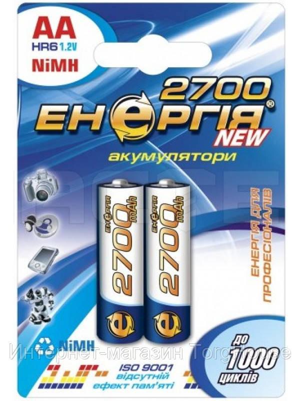 Аккумулятор Энергия R6 (2700)-C2 NiMH, AA, 2700 mAh, 1.2V