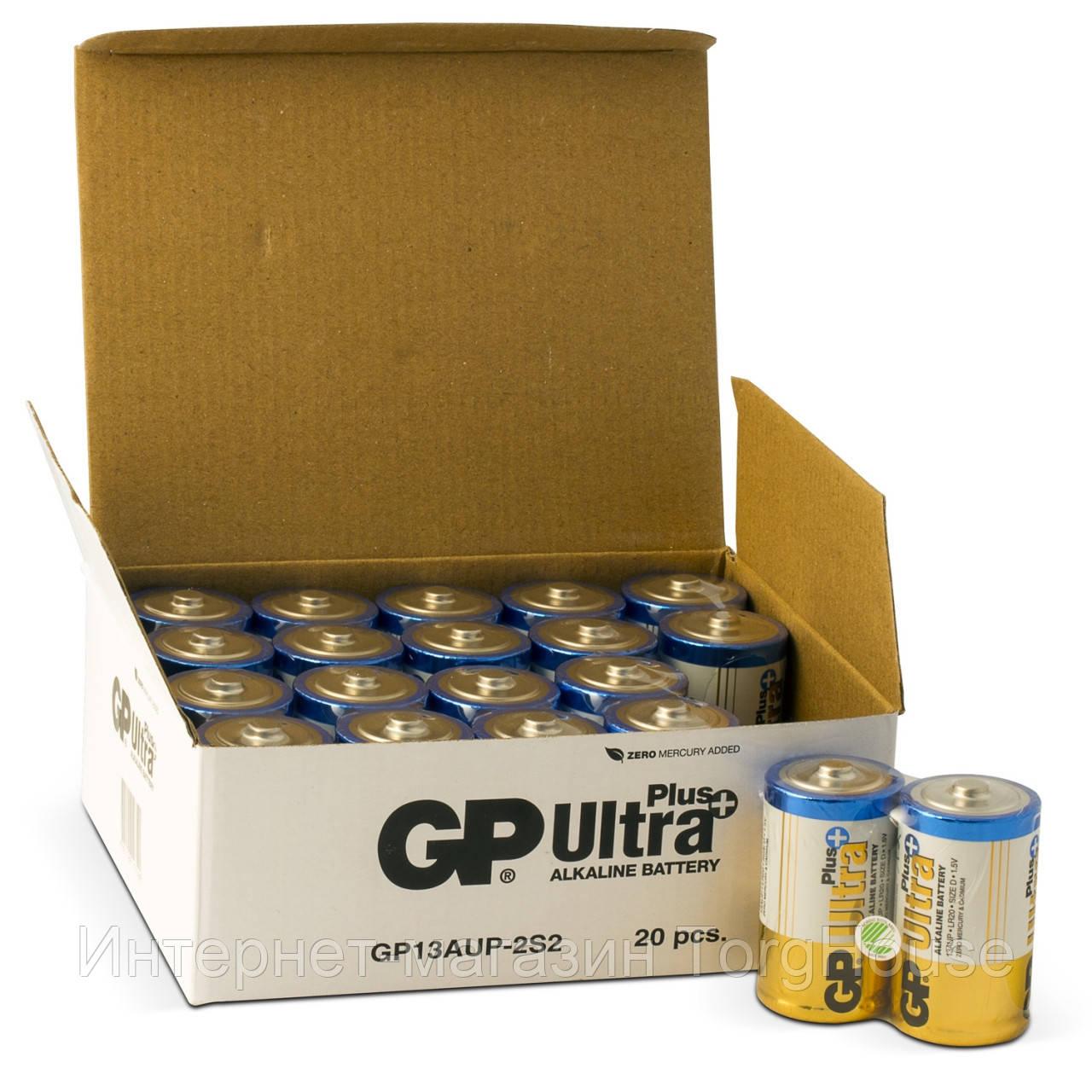 Батарейка GP 13AUP-S2 Ultra Alkaline PLUS D (LR20)